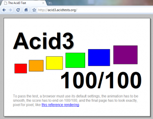 chrome build 45376 Acid3