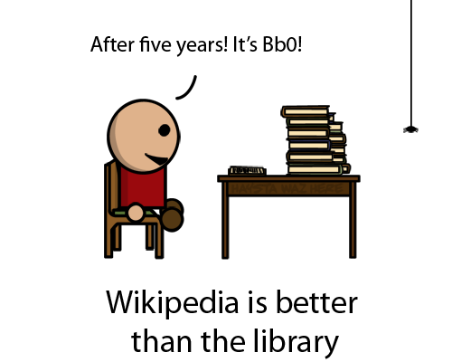 Wikipedia is better than the library
