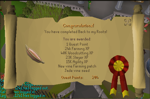 Back to My Roots reward Scroll