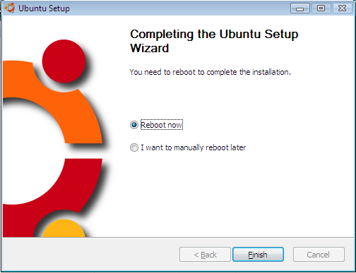 Reboot after installing