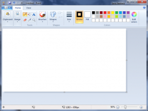Microsoft Paint with Ribbon