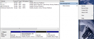 Virtual Hard disc (VHD) Management