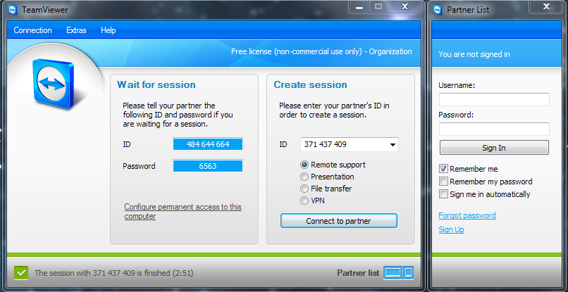 Teamviewer for support
