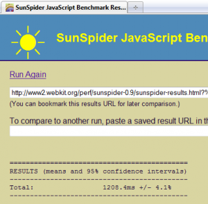 firefox 3.6.4 sunspider