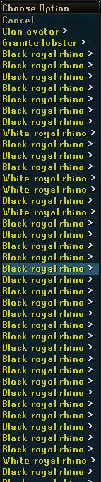 38 rhinos