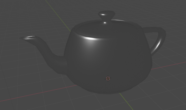 The specular highlights on the Utah teapot