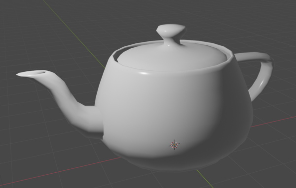 A Blinn-Phong shaded Utah teapot