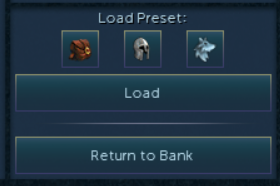 screenshot of the new bank button style