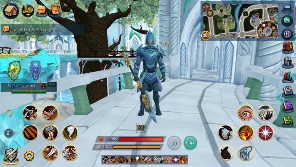 RuneScape Mobile Combat UI