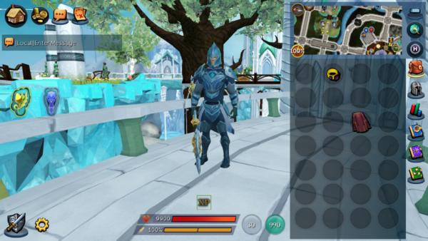 RuneScape Mobile Top Level UI